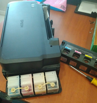 "Принтер Epson L120 - сброс ""памперса"" и чистка"
