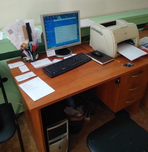 Настройка древнего принтера и компьютера в детском саду Липецка