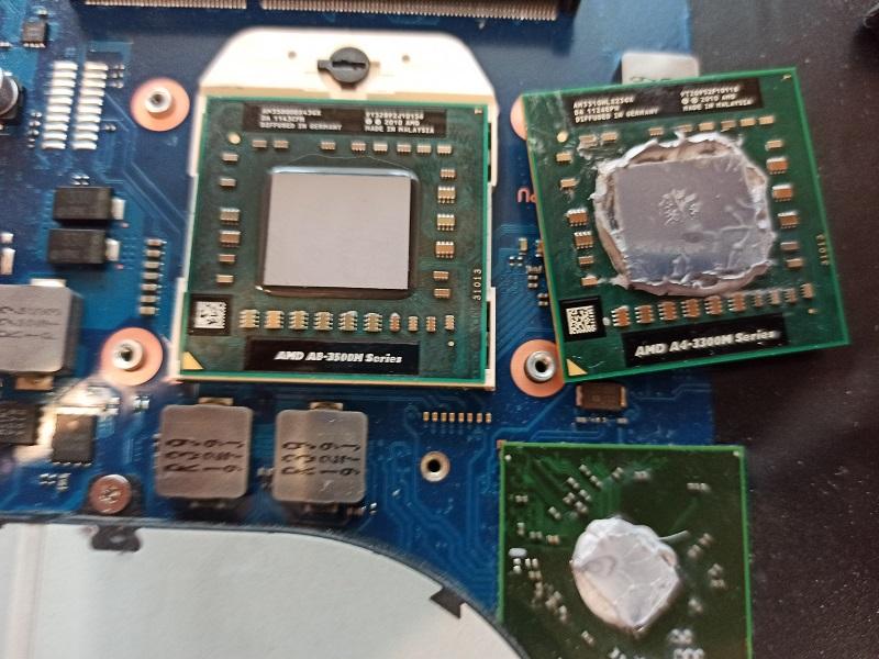 Замена процессора, жёсткого диска и оперативной памяти ноутбука