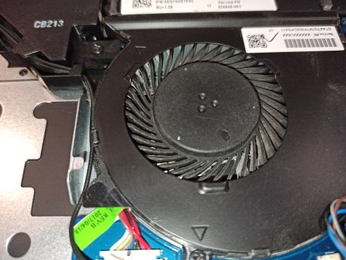 Чистка от пыли HP ноутбук