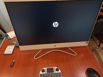 Моноблок HP работает