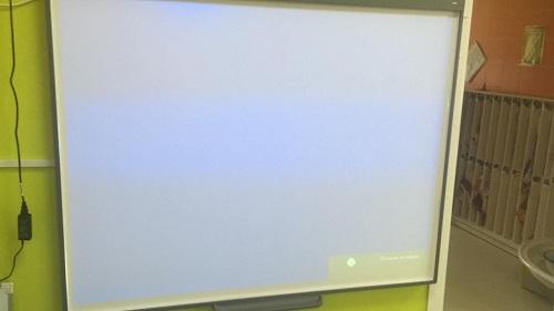 Настройка интерактивной доски в с. Хлевное